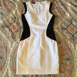 Bebe black and white colorblock dress - size 0